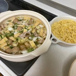 白湯湯鍋〜締めにパスタで〜