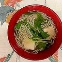 水菜、木綿豆腐、えのきのお味噌汁~♪