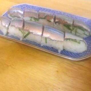 簡単さんまの棒寿司