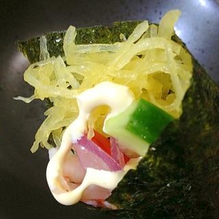 ヘルシ〜♪金糸瓜の海苔巻き(〃ω〃)
