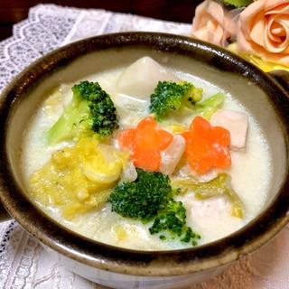 相性抜群❤️里芋&白菜&鶏肉のクリーム煮