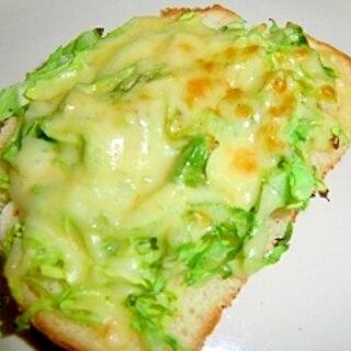 春キャベツのチーズトースト♪