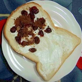 クリームチーズとクランベリーのトーストサンド