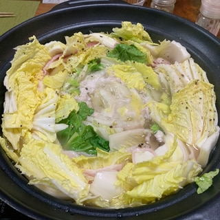 豚バラと白菜の旨塩ミルフィーユ鍋