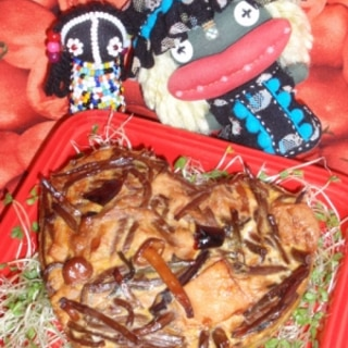 山菜とツナのきんぴらオムレツ