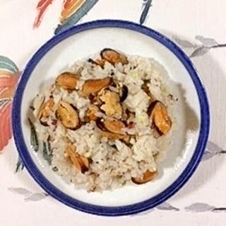 ムール貝の炊き込みご飯