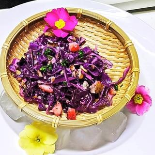 紫キャベツとナッツの簡単マリネ