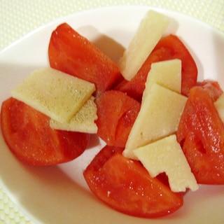 トマトとプロセスチーズのサラダ