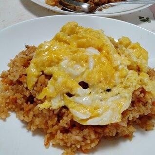 チーズ香る♫高野豆腐入り肉そぼろでオムライス
