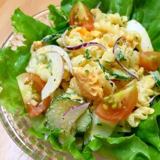 彩り鮮やか☆デリ風マカロニ卵サラダ♪