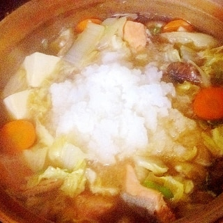 冬の雪見鍋♪「鮭のみぞれ鍋」♪d(^_^o)