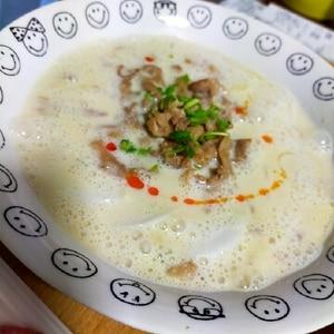 豆乳でヘルシー☆冷し坦々麺
