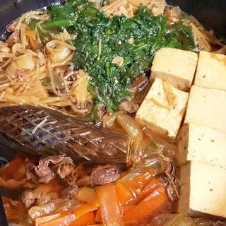 すき焼きのたれで簡単夕飯♪具だくさん肉豆腐