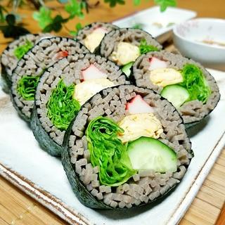 節分!たっぷり野菜のヘルシー蕎麦寿司