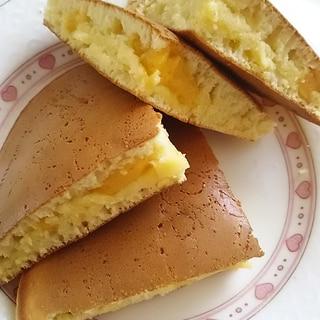 カスタードのホットケーキ(^^)