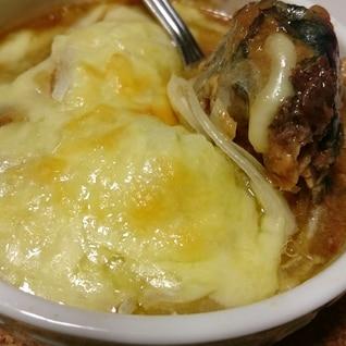 さば味噌缶のチーズ焼き
