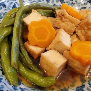 お砂糖とお醤油で作る厚揚げの煮物☆彡