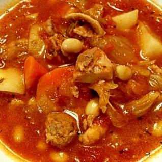 ヘルシー 野菜たっぷり チキンとトマトのシチュー