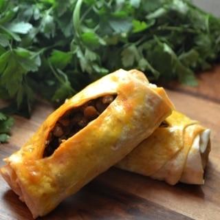 トルコ料理★緑レンズ豆のボレキ