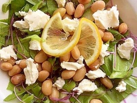 5分!?サラダ豆&レッドキャベツスプラウトのサラダ