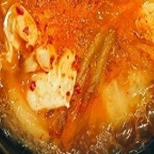 キャベツとキムチのスープ