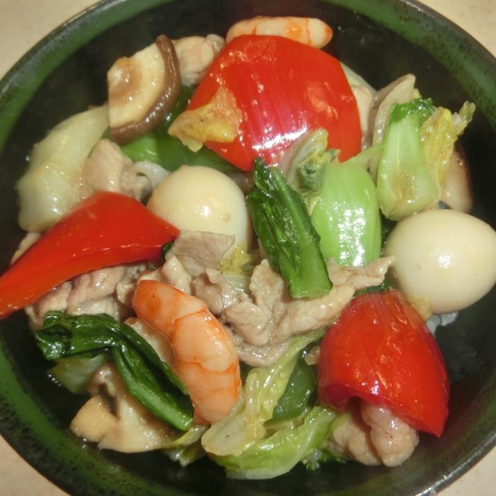 野菜たっぷりの中華丼