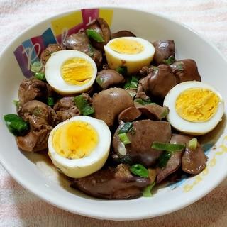 レバーと卵の禁断の煮物
