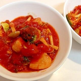 にんにく効かせて☆チキンとブロッコリのトマト煮