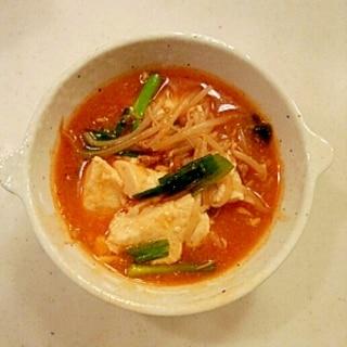 もやしたっぷり!豆腐のチゲスープ