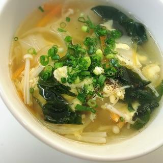 お野菜たっぷり☆ごま油香る優しい味のスープ