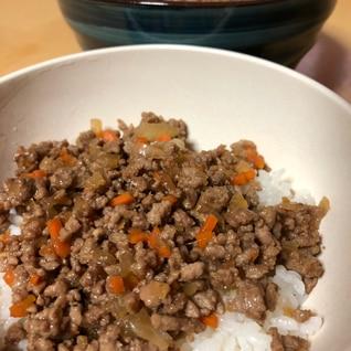余ったすき焼きのタレで簡単♪野菜入りそぼろ