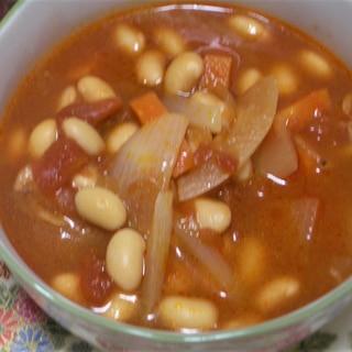 大豆入り具沢山トマトスープ