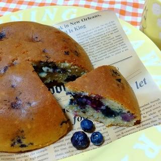 【炊飯器で】身体喜ぶ全粒粉入HMブルーベリーケーキ