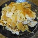 豚肉と大根の辛子醤油炒め