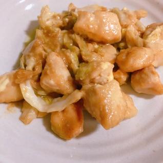 簡単!鶏ささみとキャベツのオイスターマヨ炒め♡