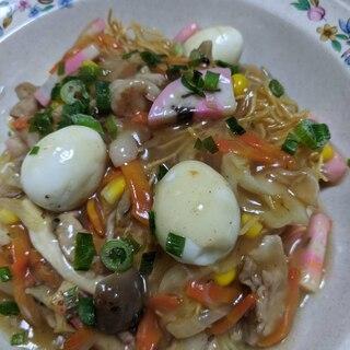 うずら卵が美味しい皿うどん