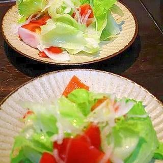 新玉ねぎのドレッシング*レタスサラダ
