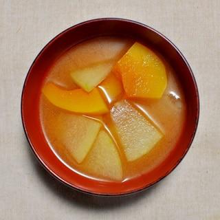 冬瓜(とうがん)とかぼちゃのみそ汁