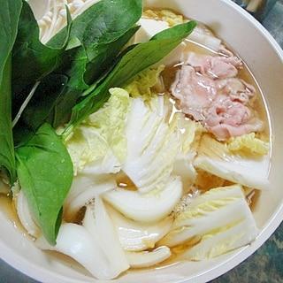 豚肉とほうれん草のポパイ鍋