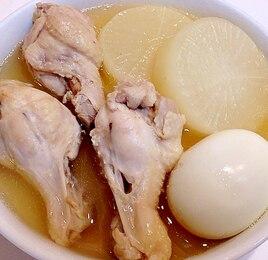 手羽元と大根とゆで卵の白だし煮