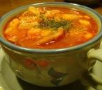 トマトの真っ赤なスープ