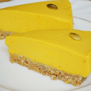 かぼちゃのレアチーズケーキ