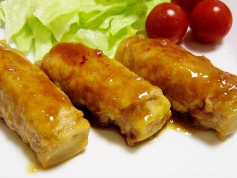 美味♪高野豆腐の肉巻き照り焼き【おつまみにも】