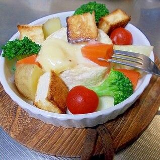 お一人様チーズフォンデュ♪カマンベール1個丸ごと鍋