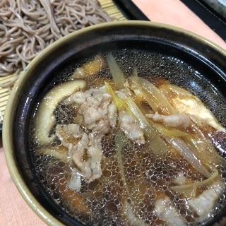 豚バラつけ蕎麦^ - ^