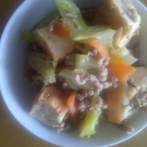 豚ひき肉とキャベツのピリ辛炒め