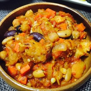 簡単に洋風ひよこ豆のトマト煮込み