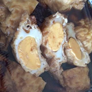 卵の油揚げ巾着