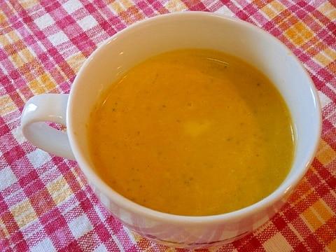 冷凍かぼちゃで簡単、時短☆かぼちゃの冷製スープ☆