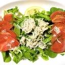 しらすドレッシングで食べるルッコラ×トマトのサラダ